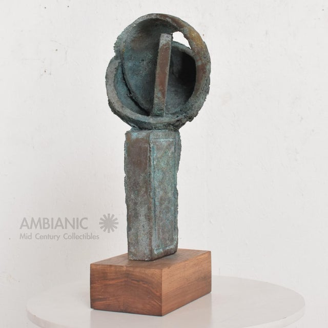 Abstract Myrna M Nobile Bronze Abstract Sculpture #6, Mid Century Period For Sale - Image 3 of 10