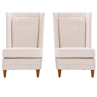 Paul Laszlo High-Back Lounge Chairs For Sale