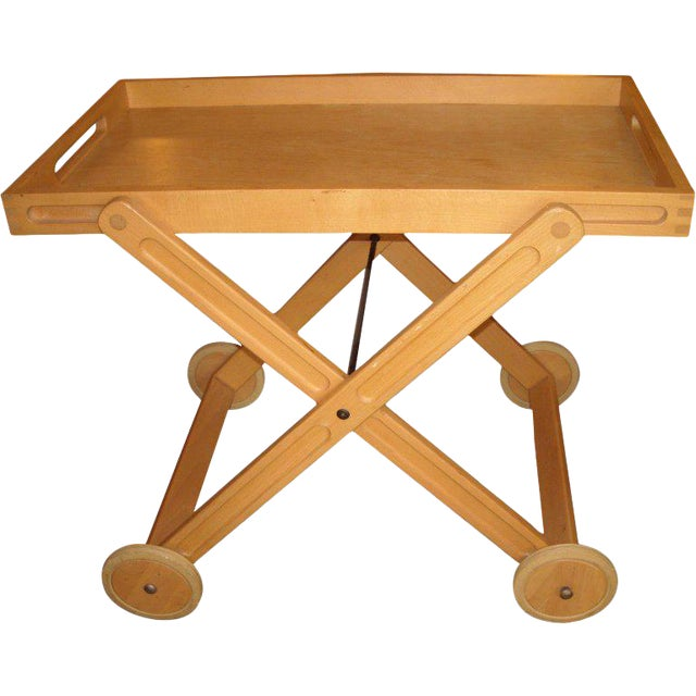 Rare and Easy Bar and Tea Trolley Cart by Nissen Denmark For Sale