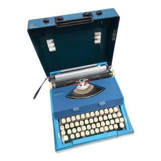 Mid-Century Blue Typewriter