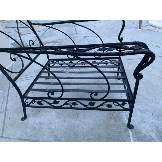 Grape Wrought Iron Patio Lounge Arm Chairs - a Pair For Sale In Miami - Image 6 of 8