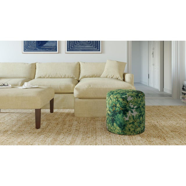 The classic Drum Ottoman--perfect in every way and even better as a pair. Fully upholstered and extra comfortable as an...
