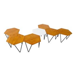 Gio Ponti Set of Seven Modular Coffee Tables for I.S.A., Italy, circa 1950
