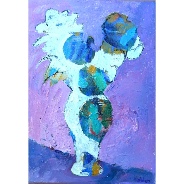 "Lavender Contemporary ""Lavender Flowers"" Oil Painting by Martha Holden For Sale - Image 8 of 9"