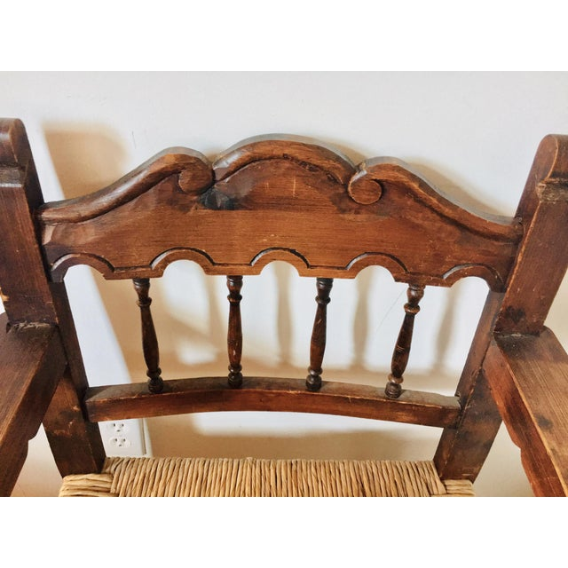 Mediterranean Early 20th Century Antique Mexican Frailero Chair For Sale - Image 3 of 5