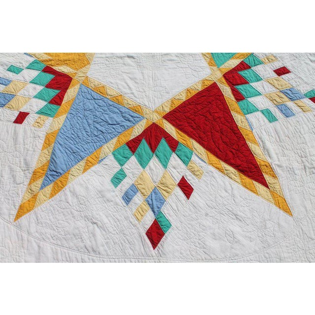 Antique Northeastern Star Quilt For Sale - Image 10 of 11