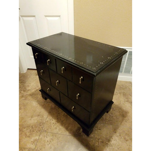 Drexel Heritage 9 Drawer Apothecary Cabinet For Sale - Image 10 of 11
