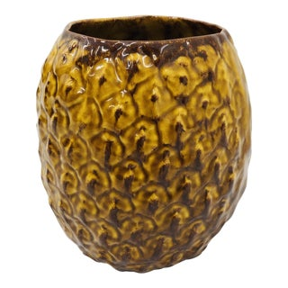 Vintage Ceramic Pineapple Vase For Sale