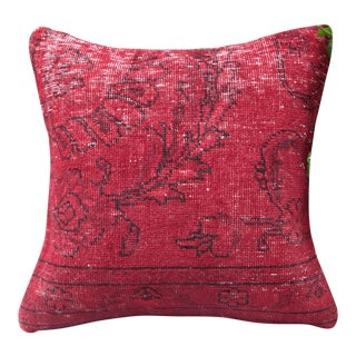 Red Turkish Rug Pillow Cover For Sale