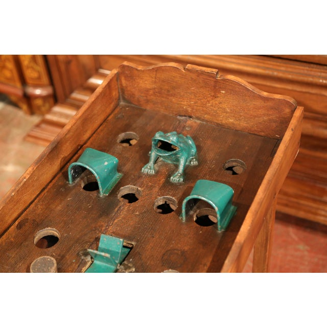 """Early 20th Century French Bistrot Game """"La Grenouille"""" or Toad in the Hole For Sale In Dallas - Image 6 of 10"""