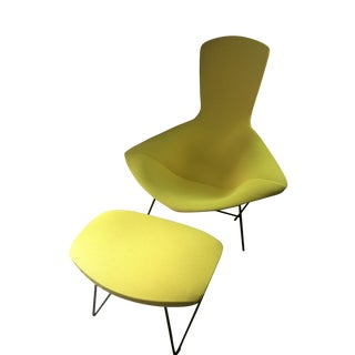 Knoll Bertoia Bird Chair & Ottoman For Sale