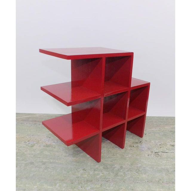 Wood Red Wood Tabletop/Hanging Shelf For Sale - Image 7 of 8