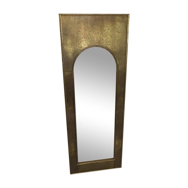 Vintage Mastercraft Brass Arch Rectangular Mirror - Image 1 of 7
