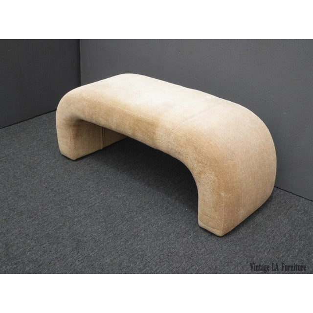 Vintage Contemporary Waterfall Style Bench - Image 2 of 8
