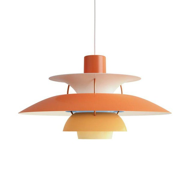 Poul Henningsen Ph 5 Pendant for Louis Poulsen in Rose For Sale In Los Angeles - Image 6 of 13