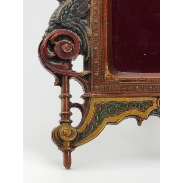 Antique Cast Iron Photo Frame - Italianate Renaissance/Victorian/Style For Sale In San Francisco - Image 6 of 10