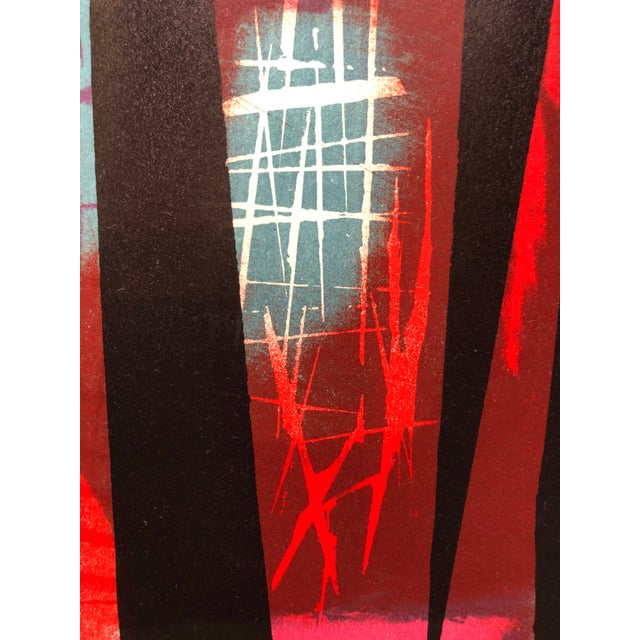 """Lithograph Signed Jerry Opper Bay Area Artist Abstract Print """"Frame of Reference"""" For Sale - Image 7 of 10"""