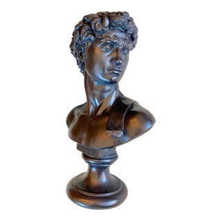 1960's Reproduction Sculpture of Michelangelo's Bust of David For Sale