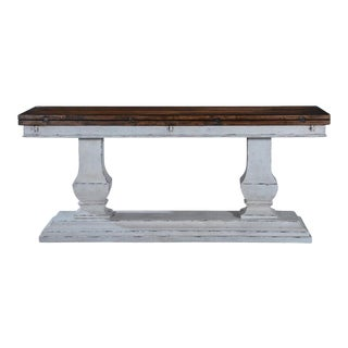 Console Table Italian Rustic Tuscan Antiqued For Sale