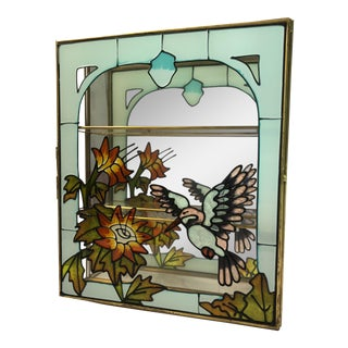 Vintage Handpainted Stained Glass Glass Box