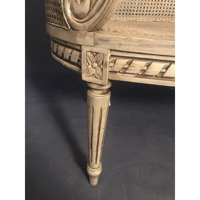 1950s Vintage Traditional French Provincial Settee For Sale - Image 10 of 12