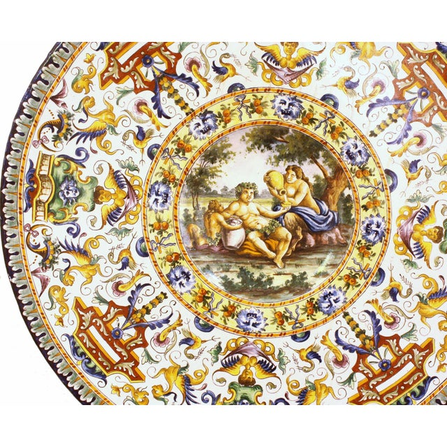 Italian Renaissance-Style Majolica Chargers With Images After Annibale Carracci (1560-1609) - Image 5 of 13
