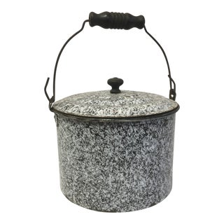 Antique Brown Granite Lunch Box