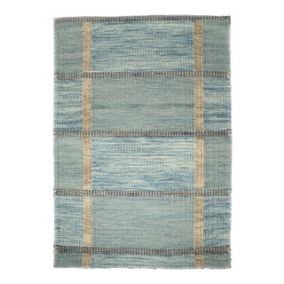 Blue Freya Rug by Celerie Kemble for Chairish, 4'x6'