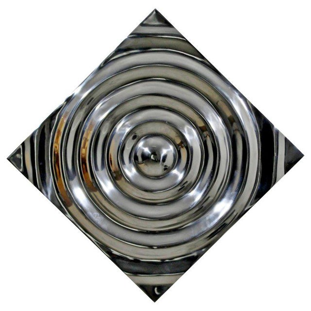 Metal Mid-Century Modern Aluminium Cast Saturn Ring Wall Sculpture Relief, 1970s For Sale - Image 7 of 7