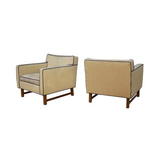 Tufted Midcentury Armchairs by Franklin Furniture, Pair For Sale