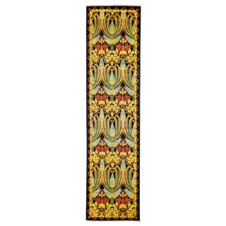 "Arts & Crafts Hand Knotted Runner - 2'6"" X 9'8"" For Sale"