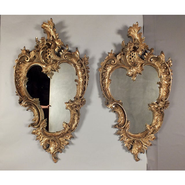 Italian Rococo Gilt Resin Wall Mirrors - A Pair - Image 2 of 7