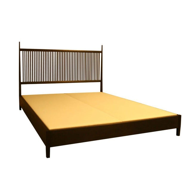 Nichol Walnut Platform Bed - Image 5 of 8