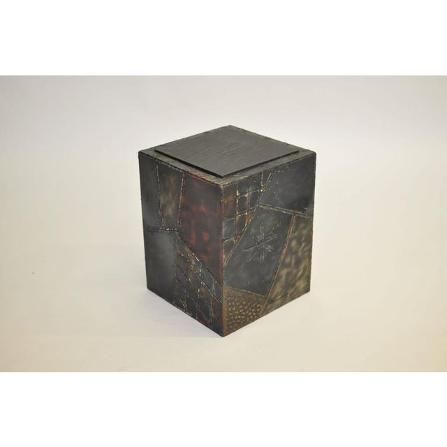 Paul Evans Welded Steel Cube Table For Sale - Image 5 of 8