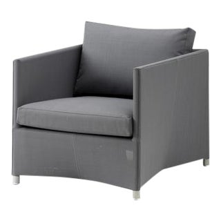 Cane-Line Diamond Lounge Chair, Gray For Sale