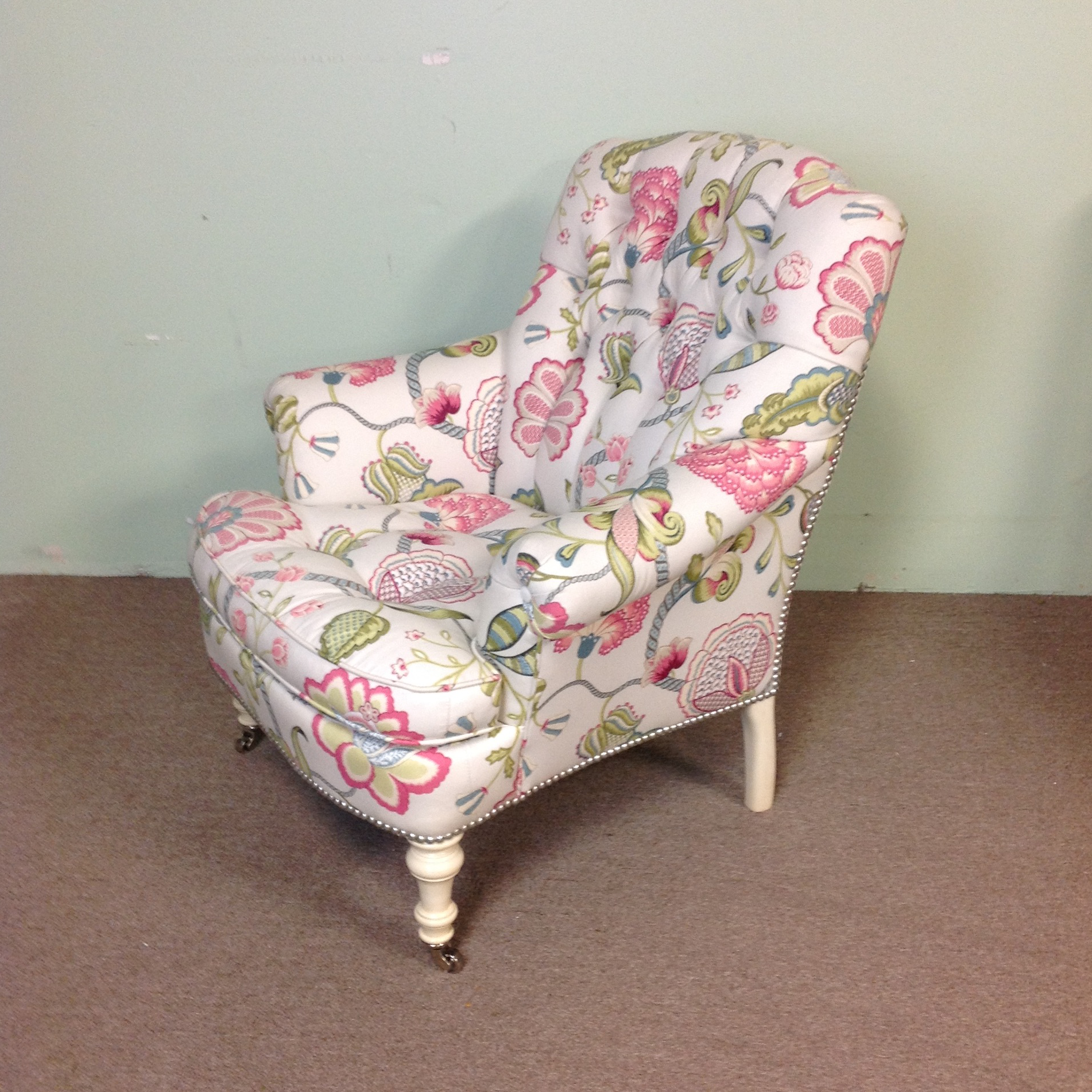 Lillian August Albert Tufted Floral Upholstered Chair   Image 2 Of 9