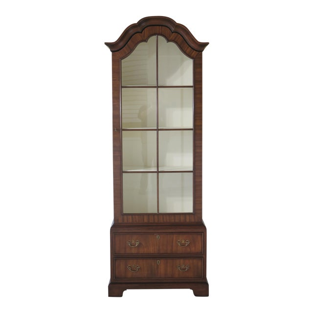Kittinger Mahogany Bookcase Display Cabinet For Sale