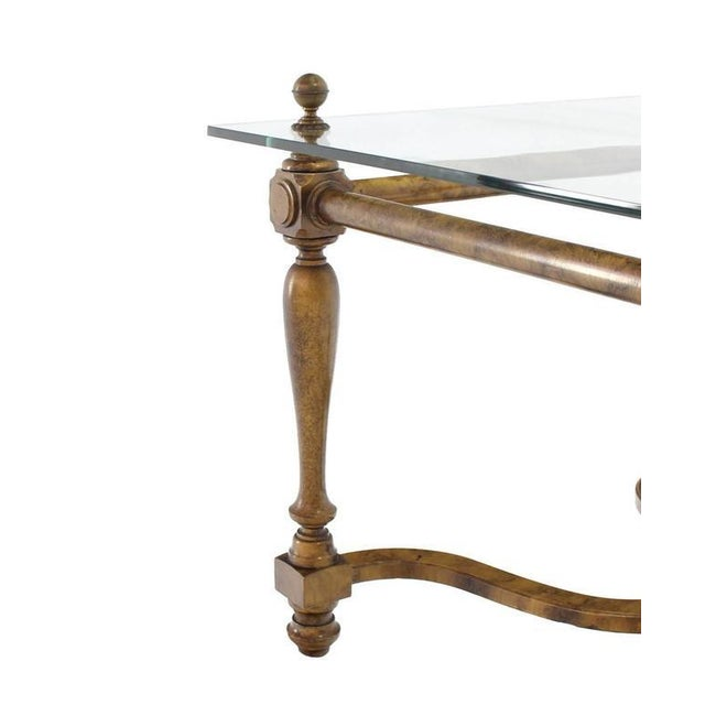 Figural Base Glass Top Side End Table For Sale In New York - Image 6 of 7