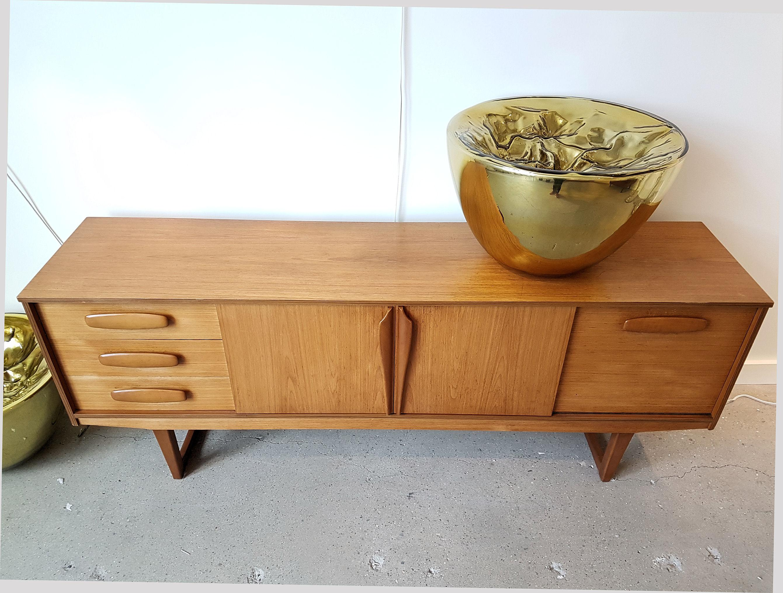Mid Century Modern Danish Clear Cherrywood Buffet   Image 2 Of 9