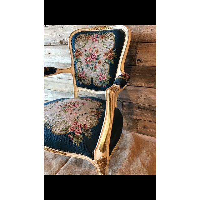 French Needle Point Arm Chair (2 Available) - Image 5 of 6