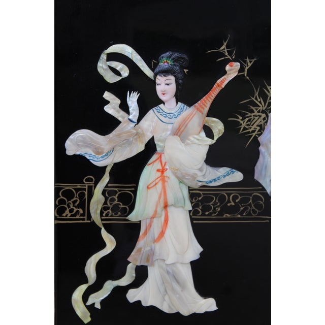 Asian Wall Panels Depicting Chinese Performers or Geishas For Sale - Image 10 of 13