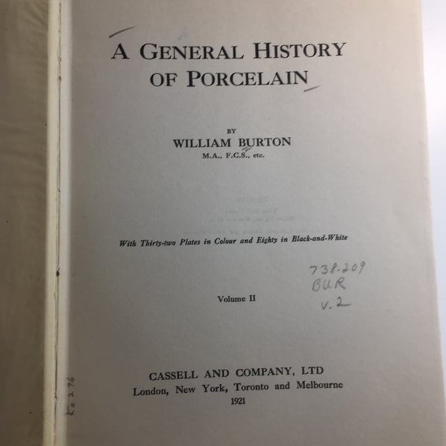 1921 General History of Porcelain William Burton Book For Sale - Image 4 of 13