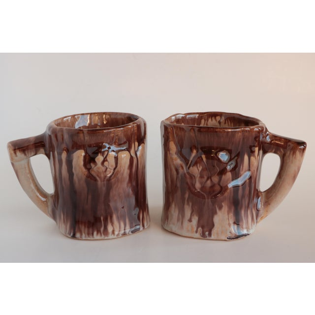 Faux Bois Majolica Beverage Set For Sale In Madison - Image 6 of 12