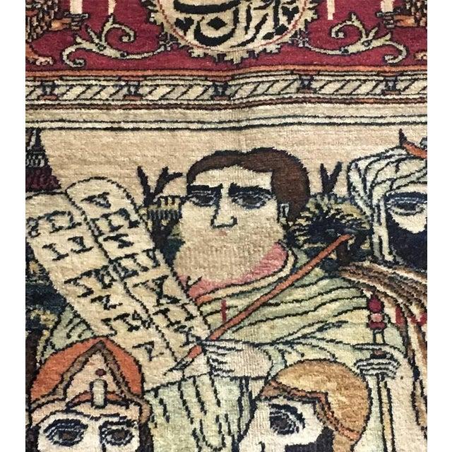 Textile Antique Persian Kerman Rug - 7′1″ × 10′6″ For Sale - Image 7 of 11