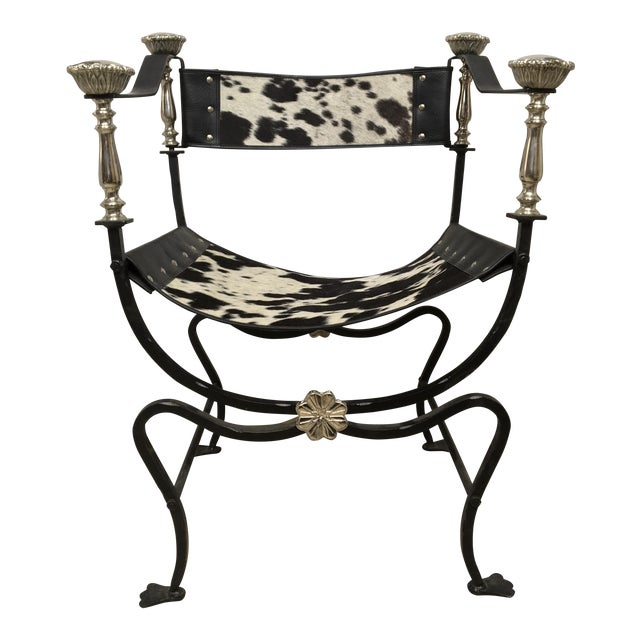Italian Campaign Style Chair - Image 1 of 6