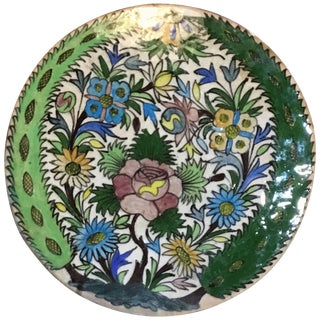 Hand-Painted Vintage Persain Tile For Sale