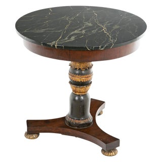 Louis Phillipe Marble Top Gueridon Table For Sale