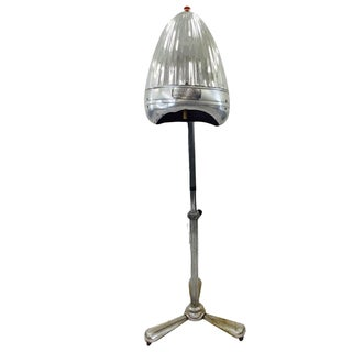 Vintage Chrome Converted Newmatic Dryer Floor Lamp For Sale
