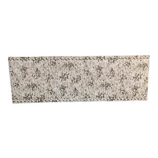 Chris Barrett Indoor/Outdoor Fabric Custom Window Cornice For Sale