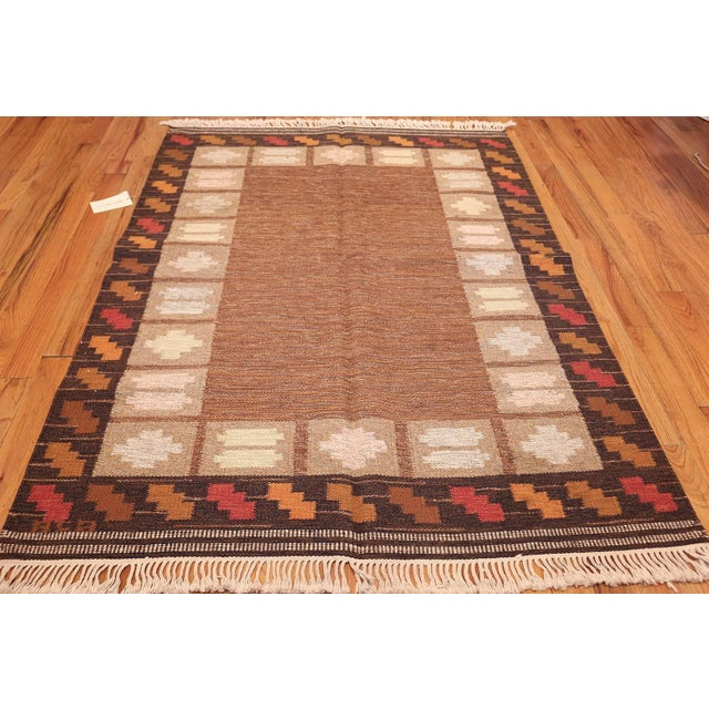 High-End Vintage Swedish Kilim Rug By Ana Joanna Angstrom